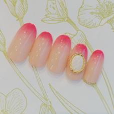 ☆女子力⤴︎グラデーションピンク  Nail Salon MELROSE所属・山口理絵のフォト