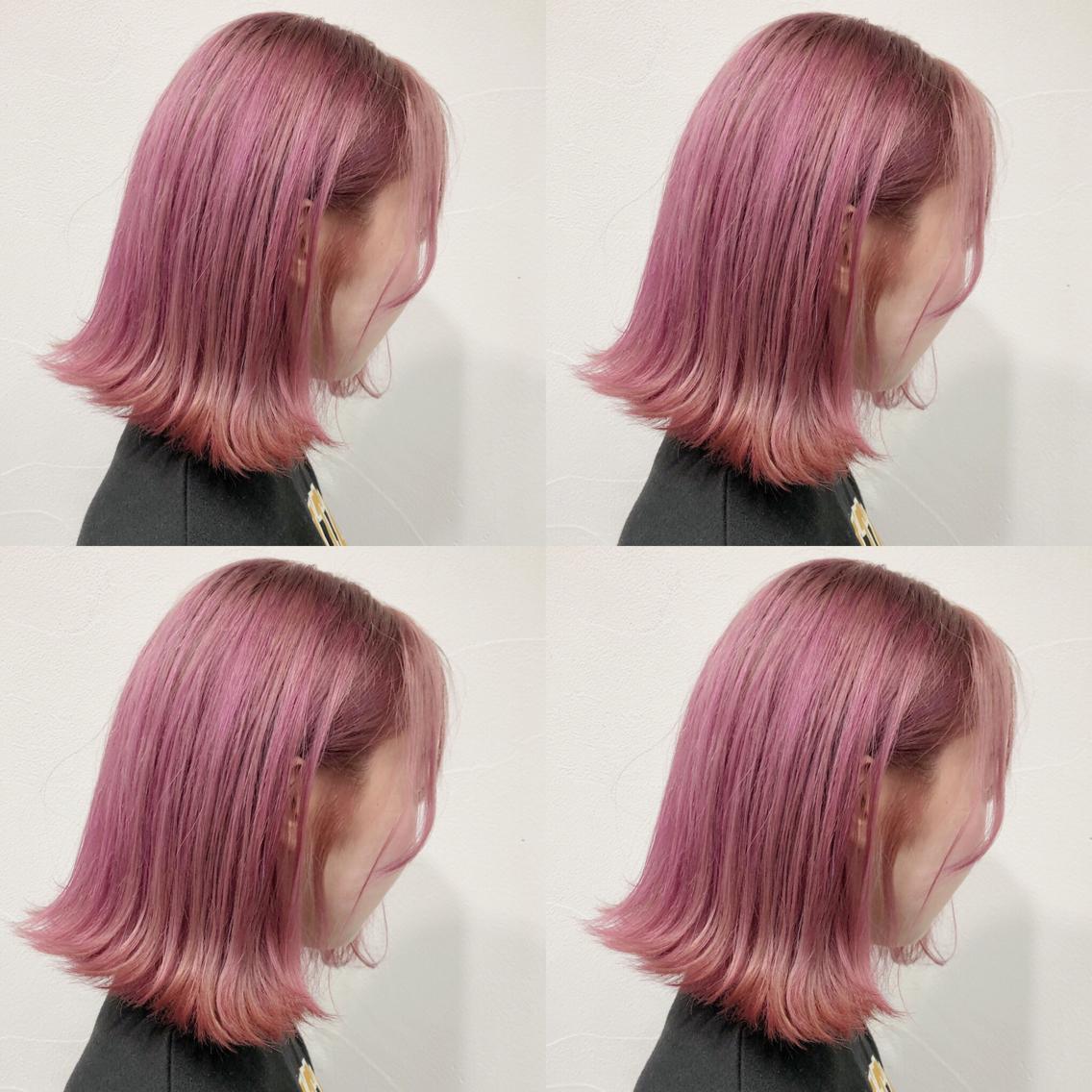 #ショート #カラー pail pink