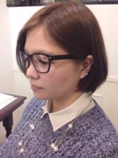 グラデーションボブスタイルです✨耳にかけるとまた雰囲気が変わって、ステキです(≧∇≦) 松本平太郎美容室    青山店所属・鈴木知佳のスタイル