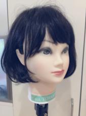 マネキンですが 毛先ワンカールのボブ作りたい方は 巻き方も教えますよ(^◇^) BASSA所沢店所属・渡部成希のスタイル