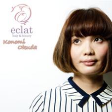 シナモンベージュのオトナBOB  eclat  hair&beauty所属・奥田このみのスタイル