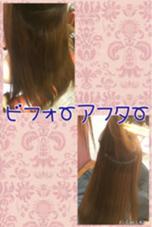 縮毛矯正。 根元から中間の縮毛矯正です! relian所属・西坂梨乃のスタイル