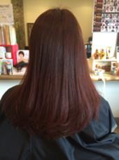 スウィートボルドー☆ 深みのある赤色で大人の感じに! 秋冬にぴったり(^^)! hair salon7(Na-na)所属・SHUHEIシュウヘイのスタイル