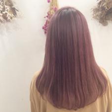 ダブルカラー♡PINK  kiki hair works所属・karimatachikaのスタイル