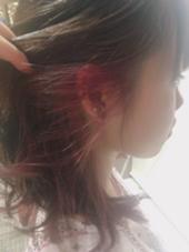 インナーカラーです HAIR&MAKE EARTH 東松山店所属・古谷菜月のスタイル