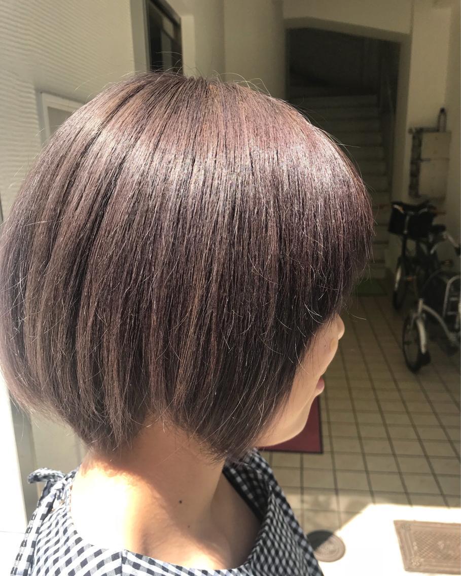 #ショート #カラー double color lavender graige✨
