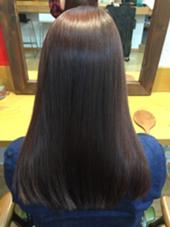 艶髪! ピンクベージュ  アウトバストリートメント、アイロン、ブロー、写真加工なしです! タナカキヨヒロのスタイル