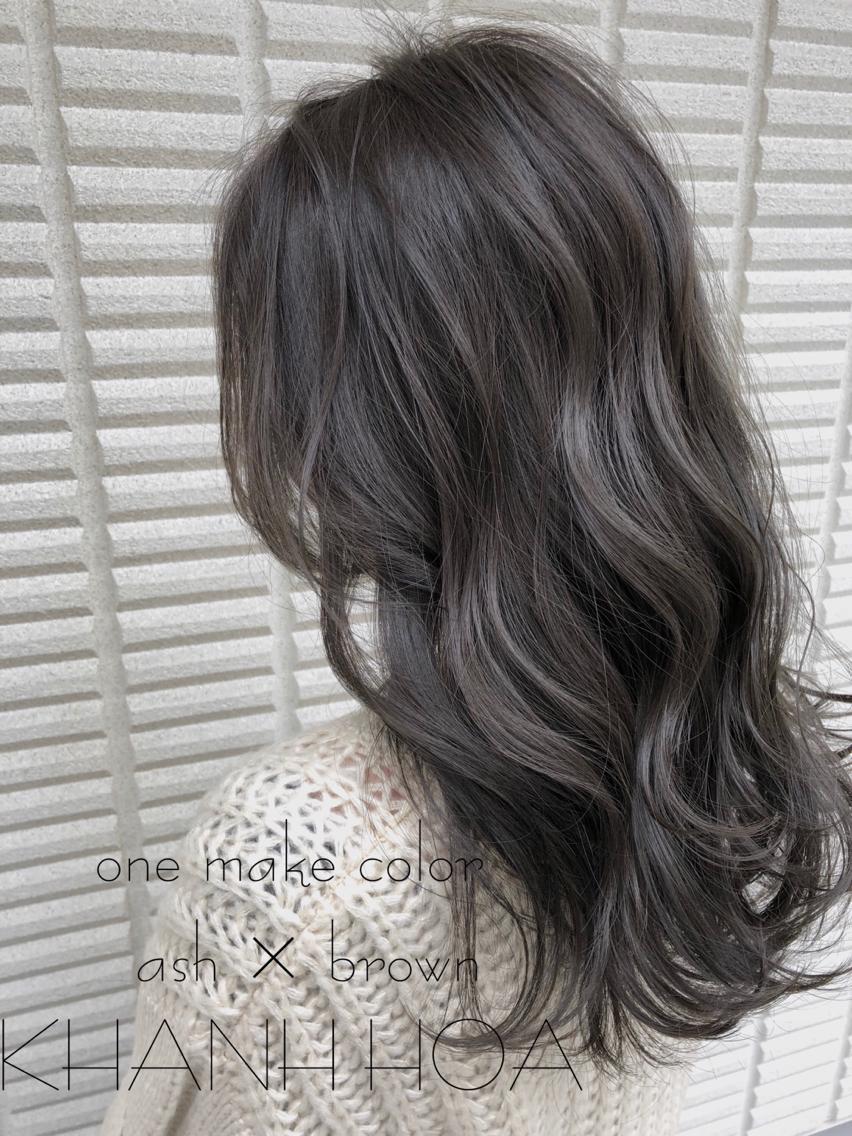 #ロング #カラー #ヘアアレンジ #その他 【 ブルージュカラー 】  黒髪のブルージュカラー☺️  暗くても重く見えないのが特徴でとても人気です🌟  イルミナカラーのアッシュを使ってブリーチなしで柔らかい質感と淡い色味が軽やかな雰囲気を引き出してくれますよ☺️