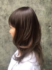 デザインカラー ロング TONI&GUY JAPAN HARAJUKU所属・アベアヤカのスタイル