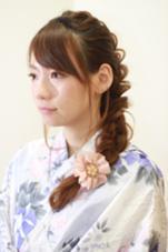 浴衣着付け+ヘアアレンジ=¥4500(税抜) ヘアアレンジのみ¥2500(税抜) 齊藤亜弥のスタイル