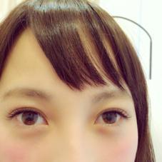 睫毛エクステ100本 くるんとカール 目尻長めで大人可愛い♡ ¥4000 アパカバール北花田店所属・中川莉沙のスタイル