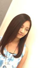 カラーで夏にピッタリなヘアに( *´艸`) アネモステラス豊見城店所属・小嶺真海のスタイル