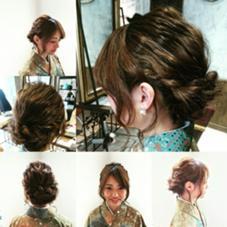 卒業式のセットやヘアアレンジ、袴の気付け、成人式の御予約もおうけたまわります☆ MODE K's TESORO所属・丸山千鶴のスタイル