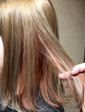 その他 カラー キッズ ショート ネイル パーマ ヘアアレンジ マツエク・マツパ メンズ ベージュ&オレンジベージュ