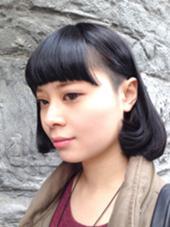 ミステリアスな黒髪にサイドの刈り上げ♪一歩先行く都会派ガール☆ HAIR BAR所属・丹野洋佑のスタイル
