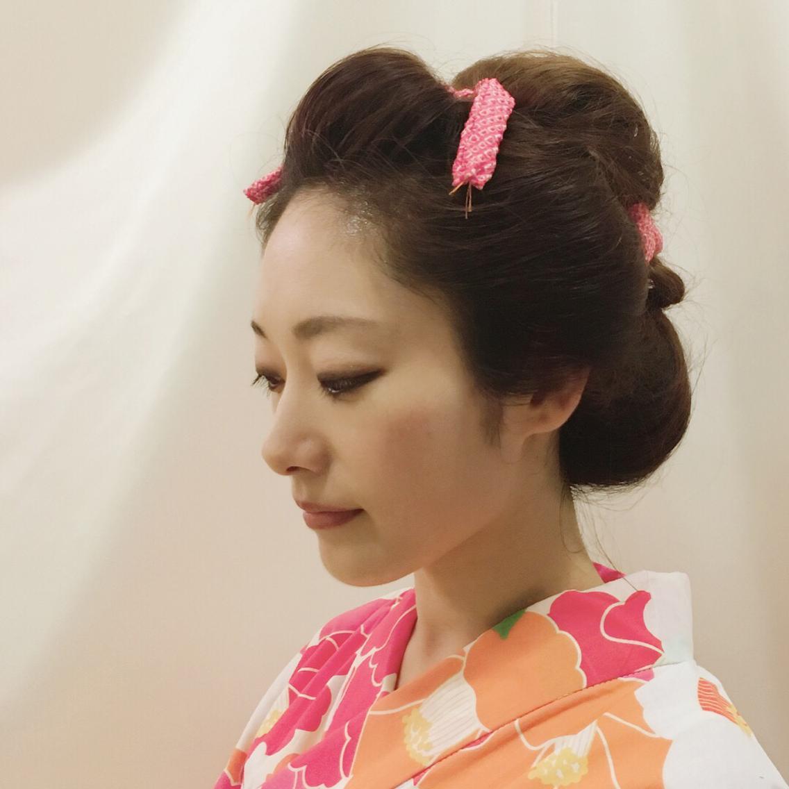 #ロング #ヘアアレンジ たまには日本髪も良いですね。 4,000円 で承ります #新日本髪 #地毛で日本髪