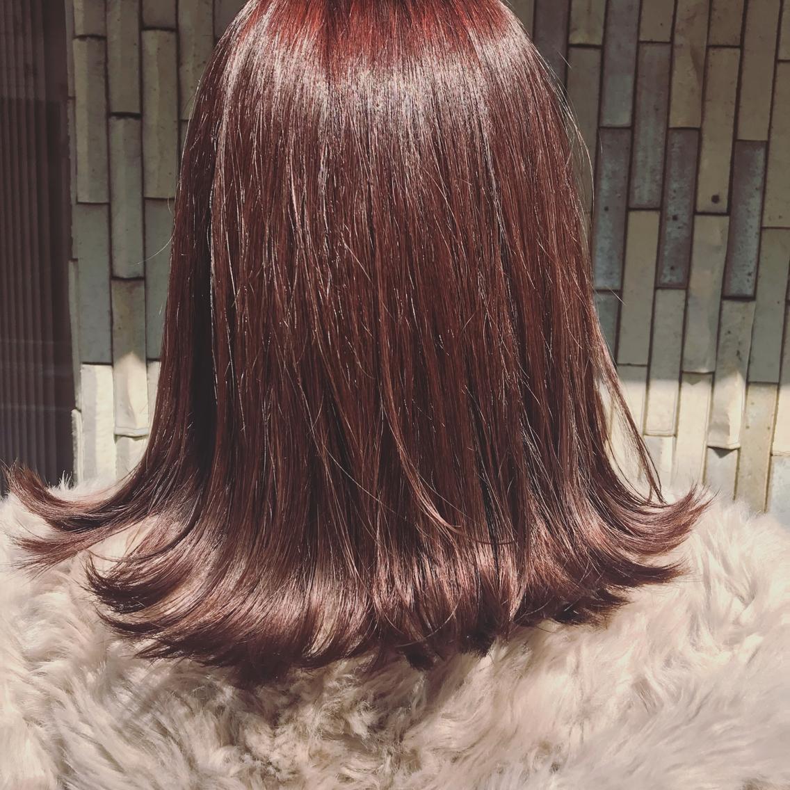 #ミディアム #カラー 1回ブリーチをしたことのある髪でもAujuaのトリートメントでこんなにツヤサラになります!一人一人のお悩みやなりたい髪質に合わせてオーダーメイドで選んでいくトリートメントです!ぜひ髪質のお悩みご相談ください! ❤︎