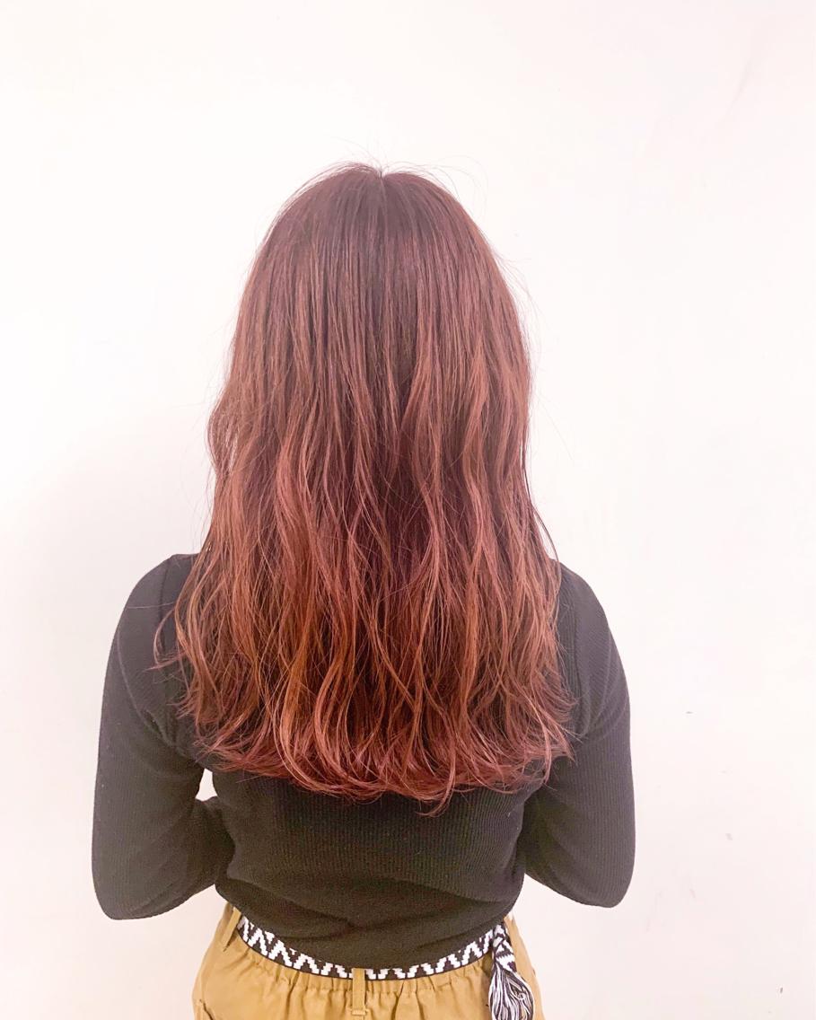 #ロング #カラー ピンクカラー