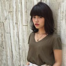 スモーキーブラック  くしゃウェトミディ☆ La familia      Bonita  byLa familia所属・maiのスタイル