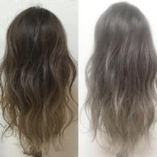 左がグレージュ、右がシルバーアッシュです♪ moana hair所属・西村孝宏のスタイル