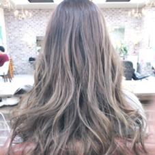 platinasilver✂️highlight hair color✂️ l-leaf(antitle)所属・上岡勇祐のスタイル