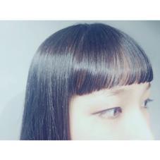 眉上ショートバング♡ CHAUSSE-PIED EN LAITON所属・KAMEINORIKOのスタイル
