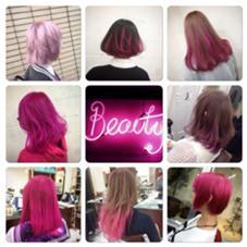 ベイビーピンクカラー♡ シェリー原宿をお借りしてます。所属・フリーランス美容師SHINYAのスタイル