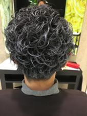 メンズシルバーアッシュ HAIR&MAKE   EARTH 西川口店所属・西山範明のスタイル