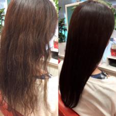 左がBefore→右がafter MIKAMIカラーでしっかり栄養を入れてカラーをすると髪にハリが出て驚く程の仕上がりになります。 乾燥毛、クセでお困りの方は効果が出やすいです! JAGARA所属・川崎祐介のスタイル