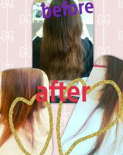 インナーカラー ピンク系 松本平太郎美容室 国立店所属・尾亦 花織のスタイル