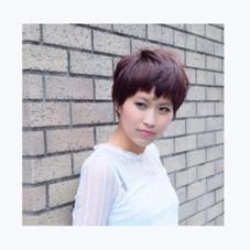 髪の毛を一番艶っぽく仕上げてくれる深みのあるヴァイオレットカラー。色落ちまでも楽しめるカラーです☆ cutofshu所属・タナカマミのスタイル