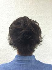 <メンズカット>マッドアッシュカラー&くせ毛風パーマ KENJE平塚LUSUCA所属・佐藤新士のスタイル