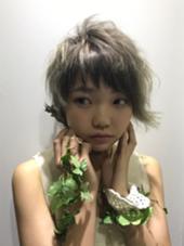ベリーショート アシメ ハイトーン 葉っぱガール笑 orange所属・渡辺朝洋のスタイル