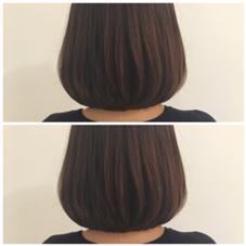 丸みのあるボブ hairdo所属・豊川優里のスタイル