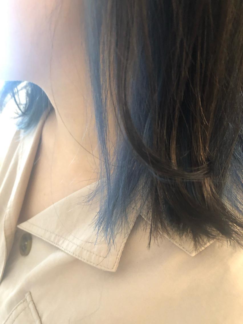 #ミディアム #カラー インナーカラー 【 marin  blue 🏝 】