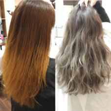 今日のモデルさん♪♪ ビフォーアフターでこんなに変わります(^^)アッシュグレイ♪♪3Dグラデーションオススメです!!!!!  moana hair所属・西村孝宏のスタイル
