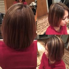 カラーグラーデーション♪ HAIR•SPA  KANCA所属・一瀬万柚子のスタイル