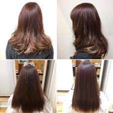 左下、ドライのみ 右下、ストレートアイロン仕上げ 上2枚、毛先にカールアイロンでスタイリング後! くせ毛の方でもしっかりスタイリングすれば可愛く広がらない髪に仕上げられます☆ 美容室Flow所属・近藤優次のスタイル