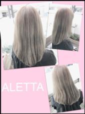 アッシュベージュ♩ ブリーチ必須です! ALETTA HAIR PRODUCE(アレッタヘアプロデュース)所属・店長  高木美樹のスタイル