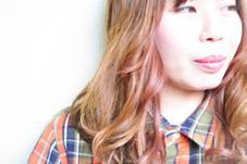 顔周りにピンクインナーカラーで可愛いくね Hair Design CULTURE所属・一ノ瀬智也のスタイル