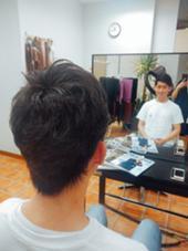 【メンズパーマ】根本立ち上げ×毛先遊び(1500yen) LUNA所属・もとよしさきのスタイル
