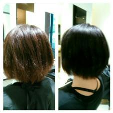 ブリーチを2回した髪にも美革ストレートでサラサラに。 RITA by realme所属・RITA by Realmeのスタイル