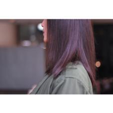 ツヤのあるウォームブラウン。秋冬オススメ☆ agree for hair所属・加納陸のスタイル