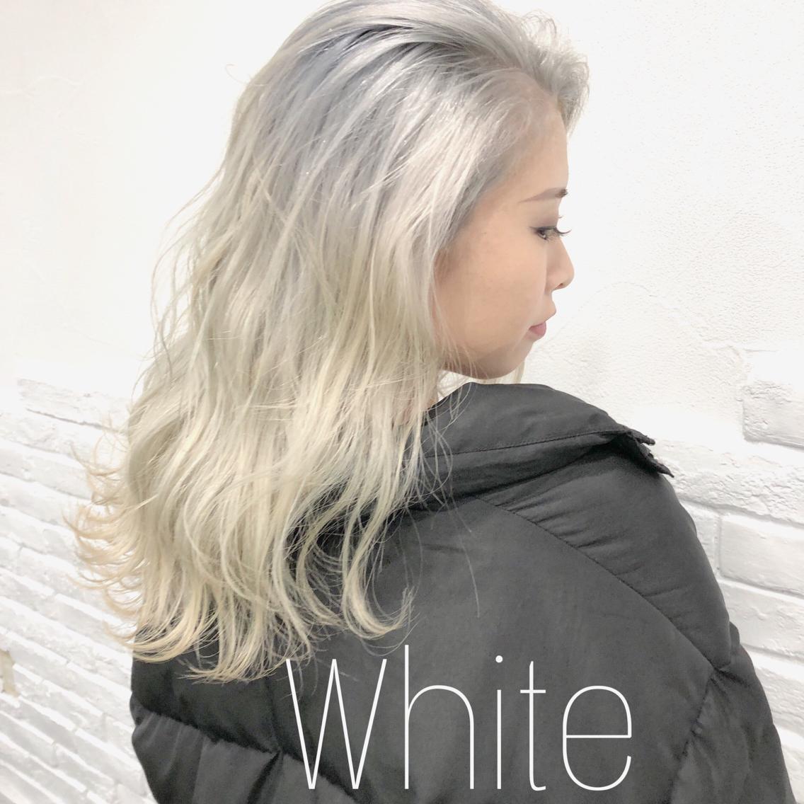 #ロング #カラー  White
