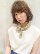 ワンカールボブ+デザインカラー CortebyLittle所属・佐藤真由奈のスタイル