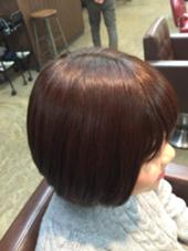 深みのあるカッパーブラウン☆ パサつきがちな髪質でも艶が出ます☆ Botanica所属・清田健太朗のスタイル