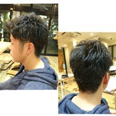 刈り上げショート✁ 固めのジェルワックスで 束感とツヤ感が◎ 笠井美優のメンズヘアスタイル・髪型