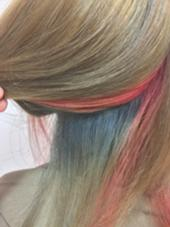 インナーカラー×ピンク×ブルー.☆° Cuola  by KENJE'所属・松澤政寛のスタイル