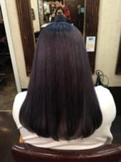 ダブルカラー❤️ 色落ち、白っぽく、、をお考えでしたら バイオレットがオススメです^_^! Naturalcontol  Harajuku所属・MoriKurumiのスタイル