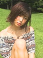 切りっぱなしBOB セミウェットな質感でトレンド感up☆ FAIR所属・米玉利香澄のスタイル